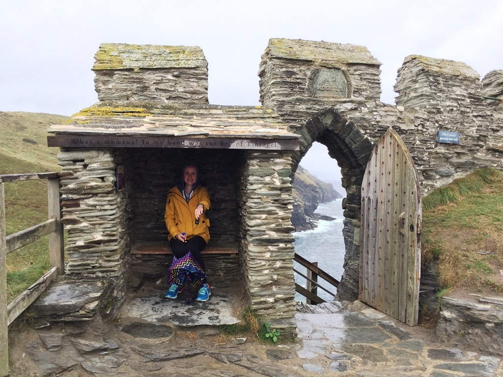 The gatekeeper's house at the entrance to Tintagel Castle