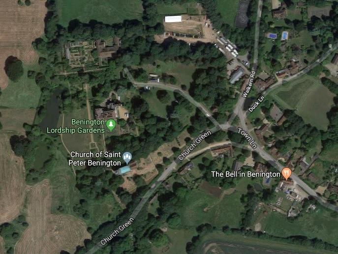 Benington Lordship Gardens Google Map