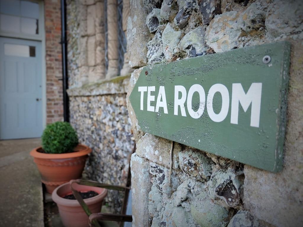 Benington Lordship Gardens tea room sign