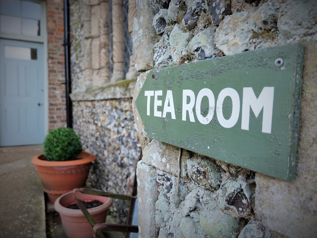 Benington Lordship Gardens tea room sign