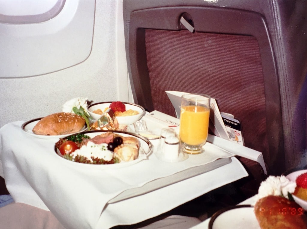 Concorde lunch is served