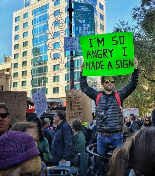 I'm so angry I made a sign - https://www.instagram.com/raqpaperscissors/