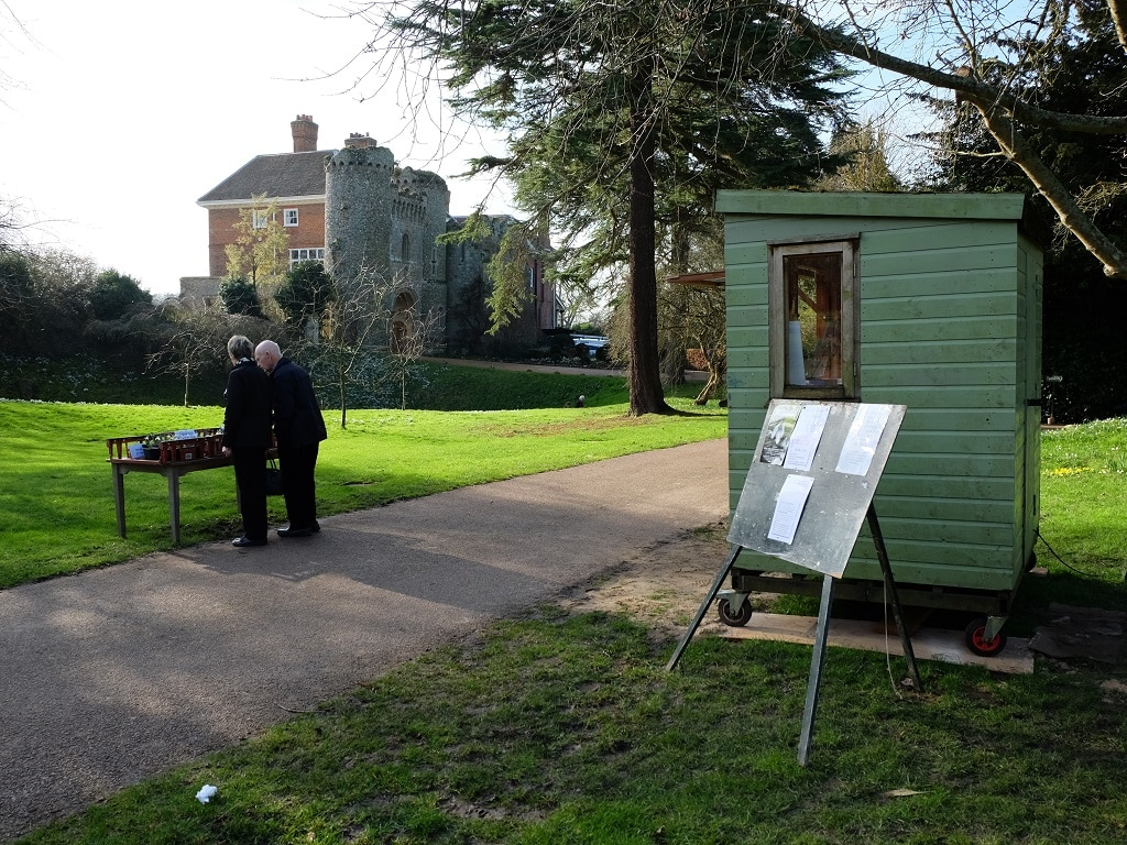 Benington Lordship Gardens pay booth and snowbells for sale