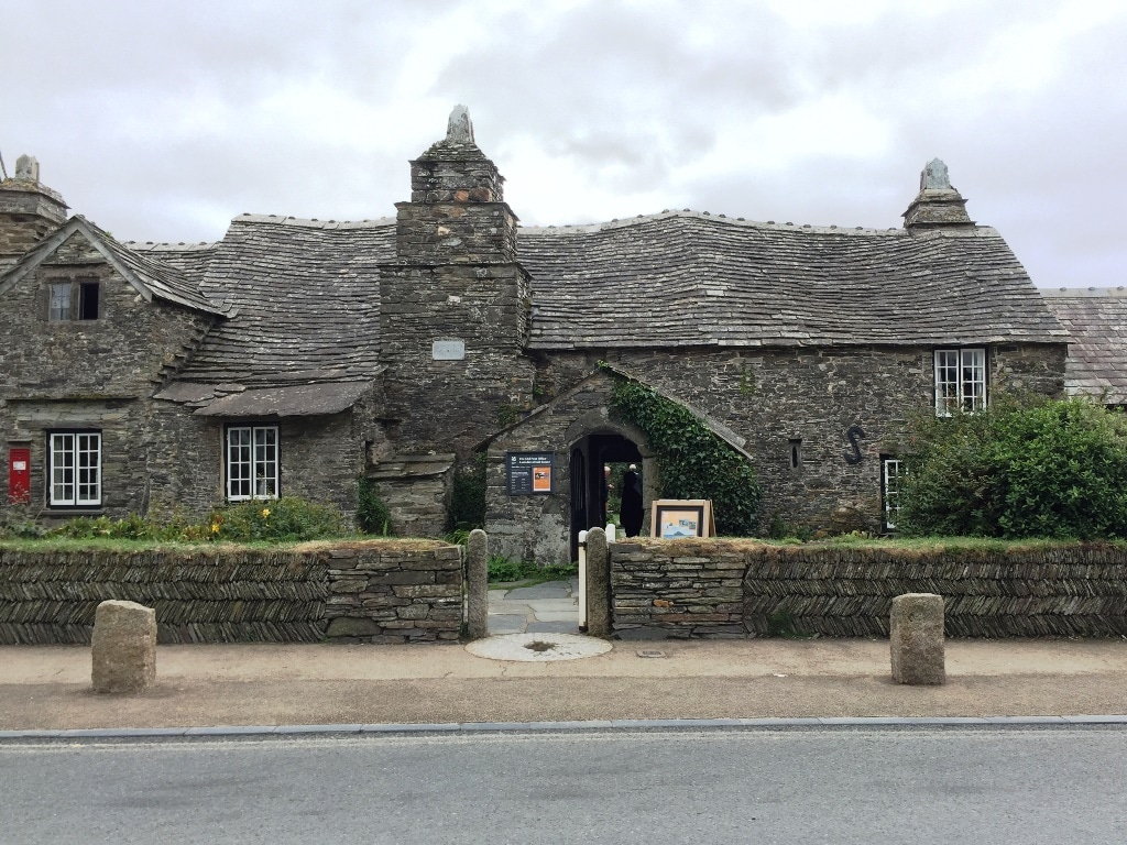 The Post office from 1300 in Tintagel Village