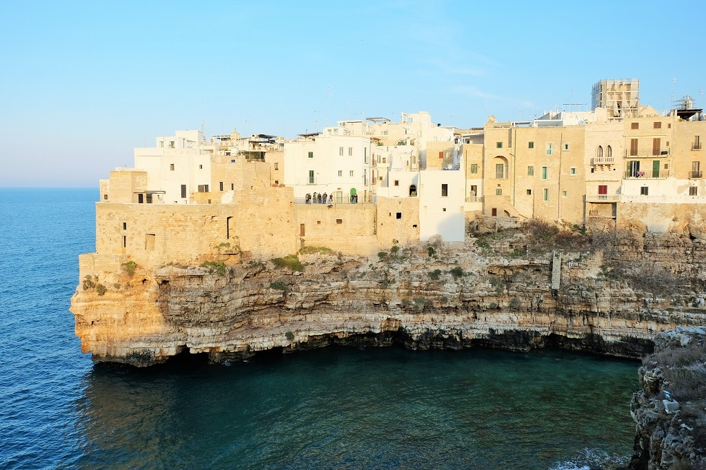 Polignano - the setting for a stage of Red Bull's European cliff diving