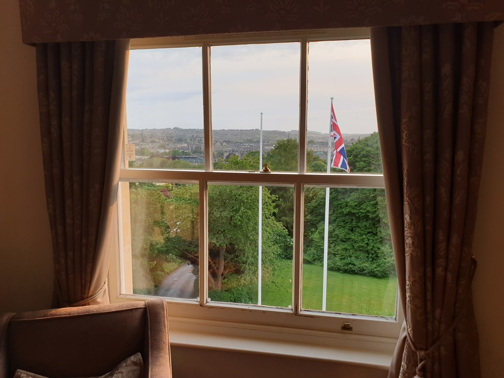 The view from room 509 at the MacDonald Spa Hotel Bath