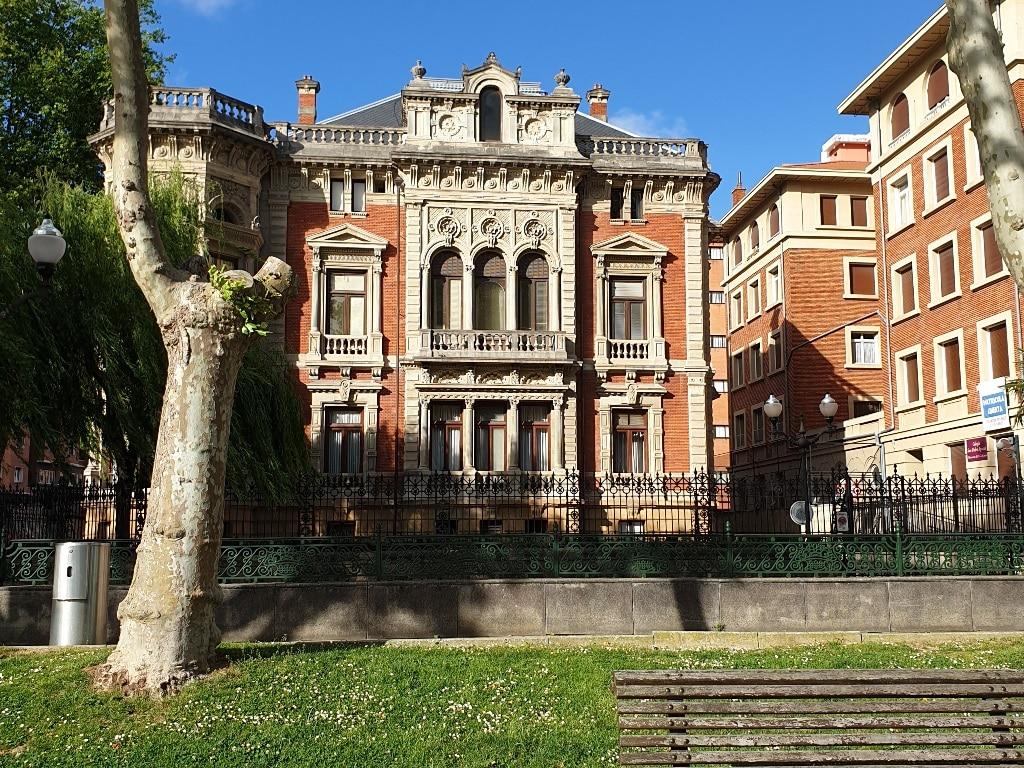 Bilbao colonial building frontage