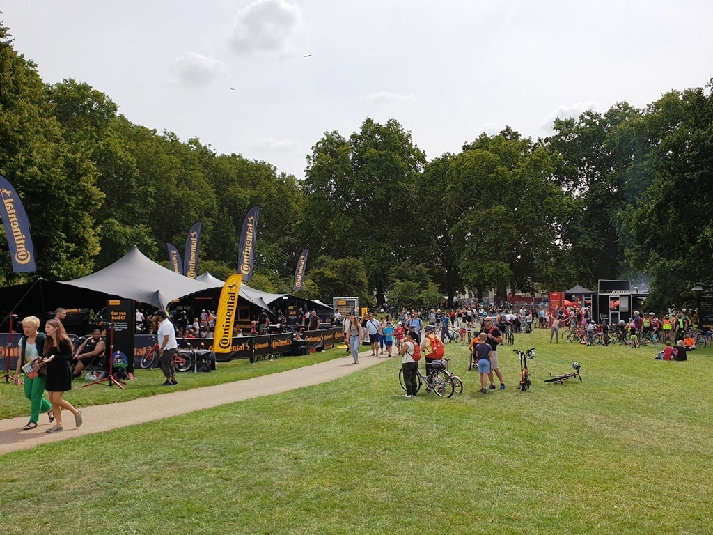 The Green Park festival zone at RideLondon