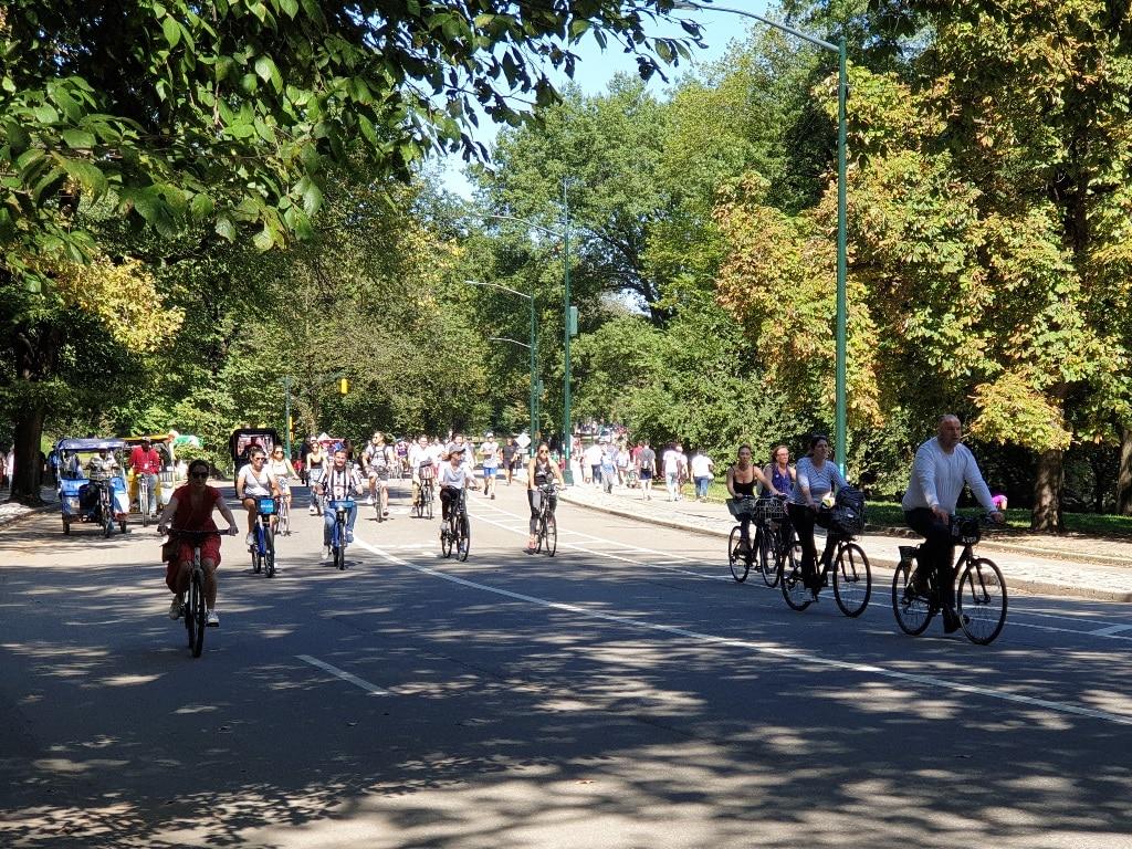 Central park cyclists