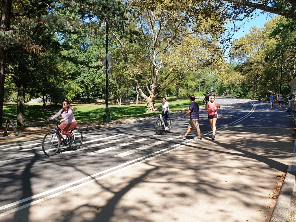 People cycling in Central Park
