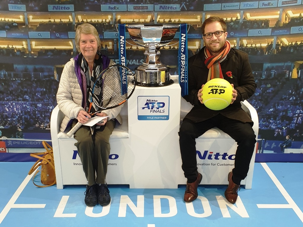 Posing with the Nitto ATP Finals doubles trophy