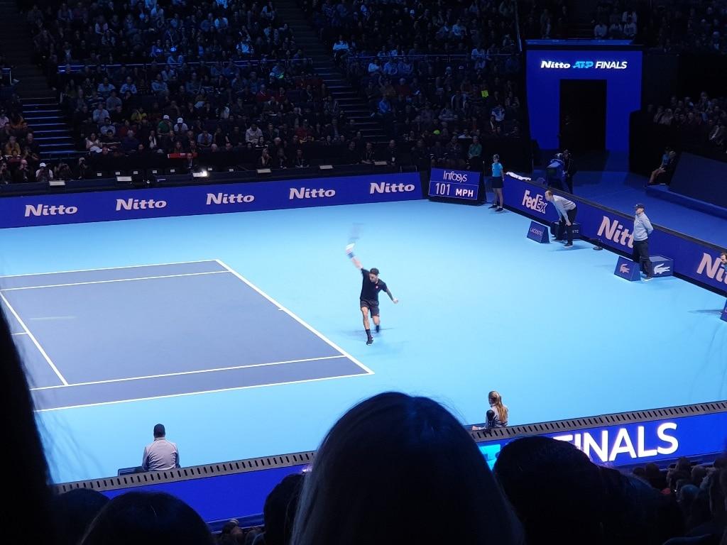 Roger Federer top spin backhand