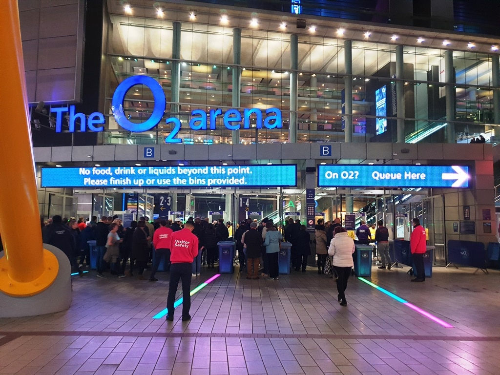 The O2 Arena neon signage
