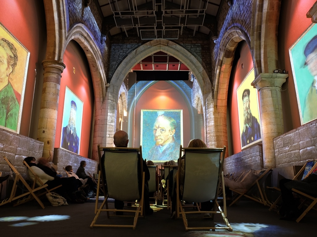 Vincent Van Gogh portraits on St Mary's church walls