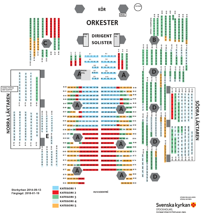 The Storkyrkan Cathedral Stockholm seating plan .Source.