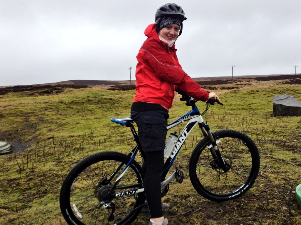 Jen on her way to Parkhead Station in the North Pennines AONB
