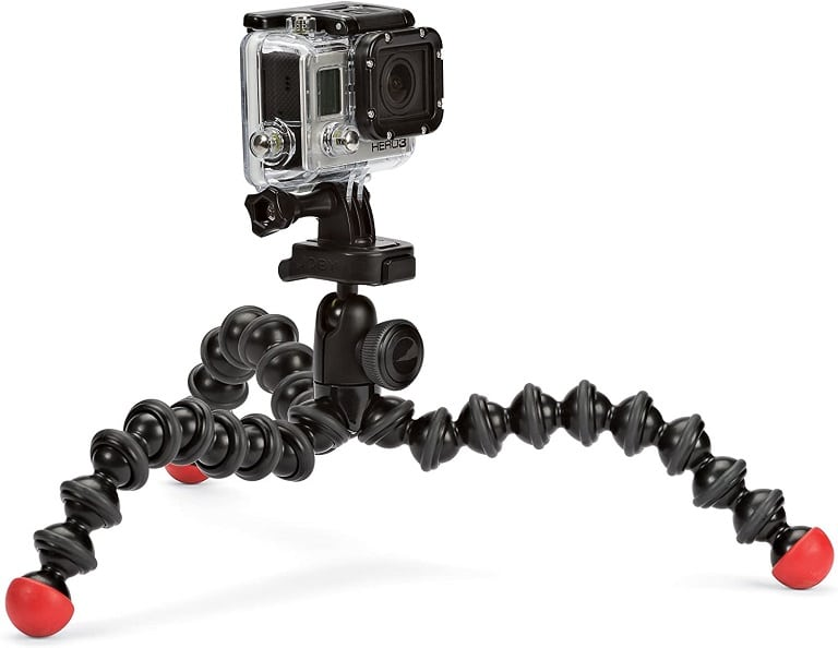 Joby Gorillapod supporting a GoPro