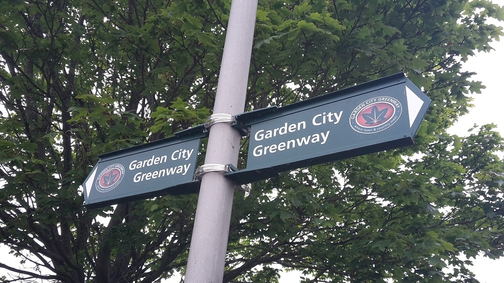 Garden City Greenway signpost