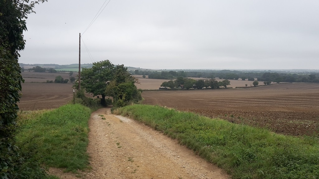 View of the Hitchin countryside from Gray's Lane