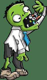 Sick zombie