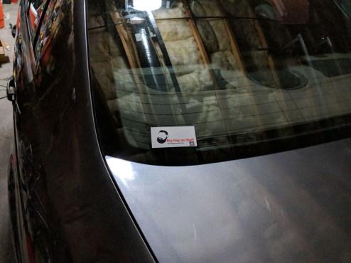 Big Guy Sticker on a Car