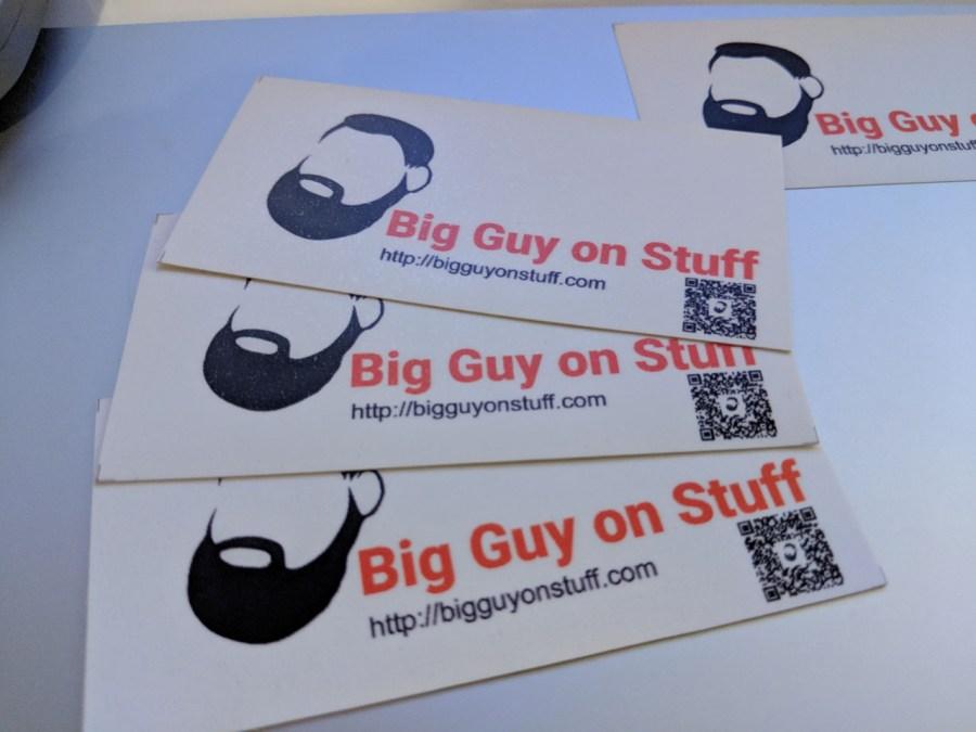 The Big Guy on Stuff Free Sticker!