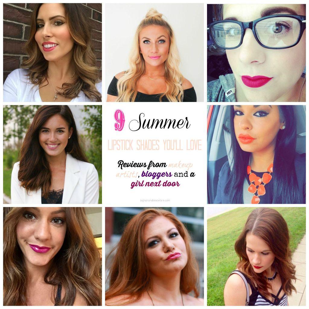 bloggers, indy bloggers, make up artists, muas, makeup reviews, summer lipsticks