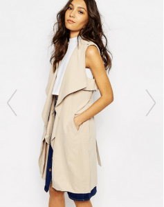 ASOS: First & I Sleeveless Trench Coat
