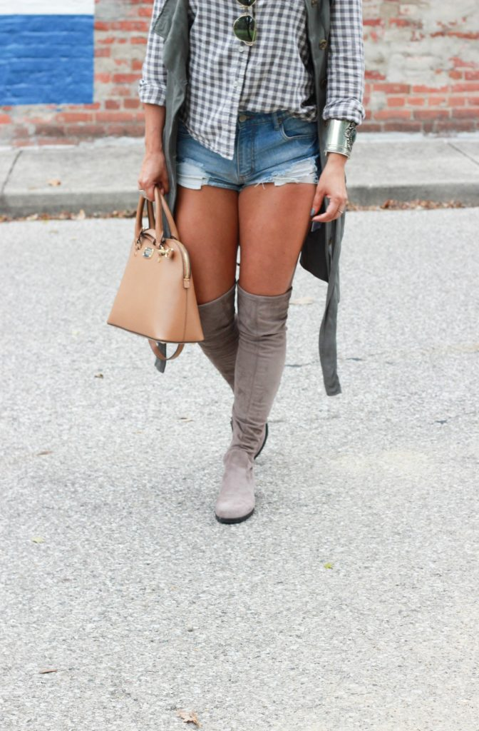 Fall OOTD: OTK boots and shorts