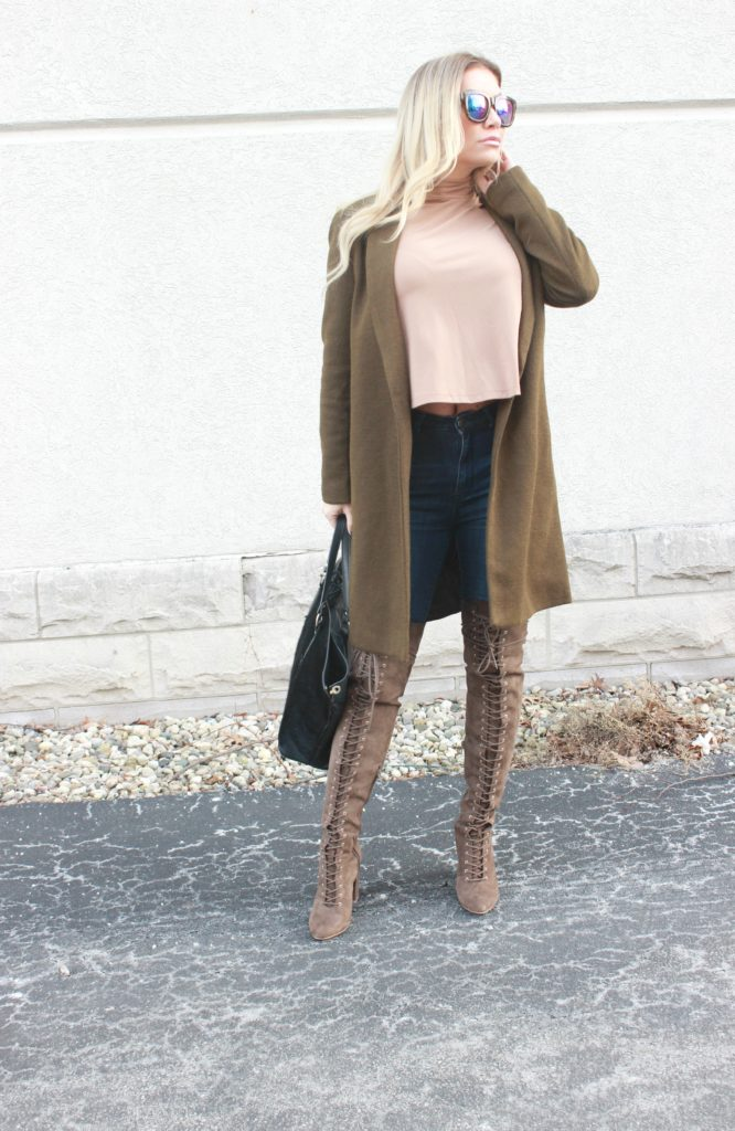 Lace Up OTKs- Winter Style.