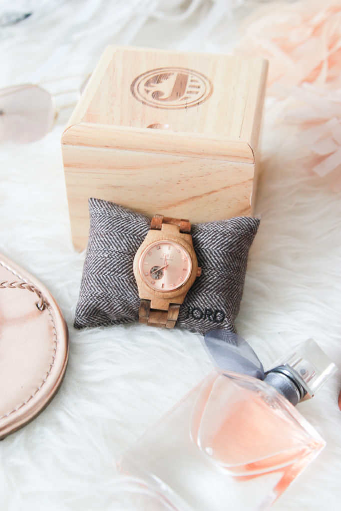 Koa and Rose Gold Women's Wood Watch