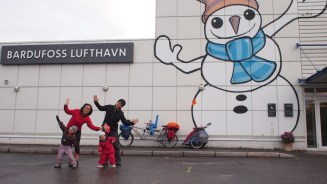 Happy Bardufoss Snowman airport