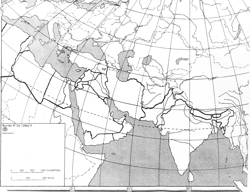 Kuwait Map Worksheet