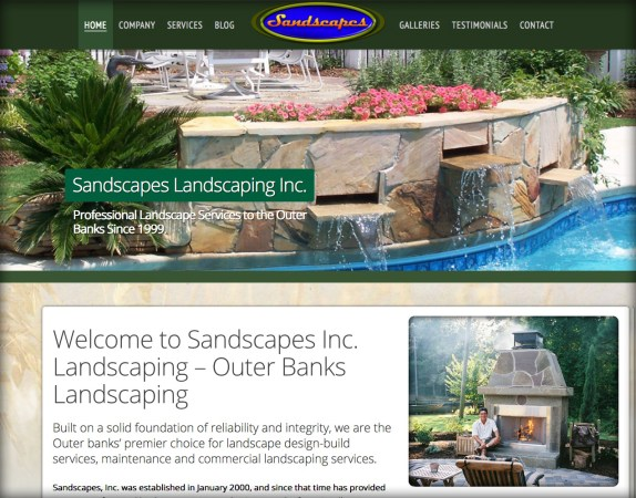 Sandscapes Landscaping Website