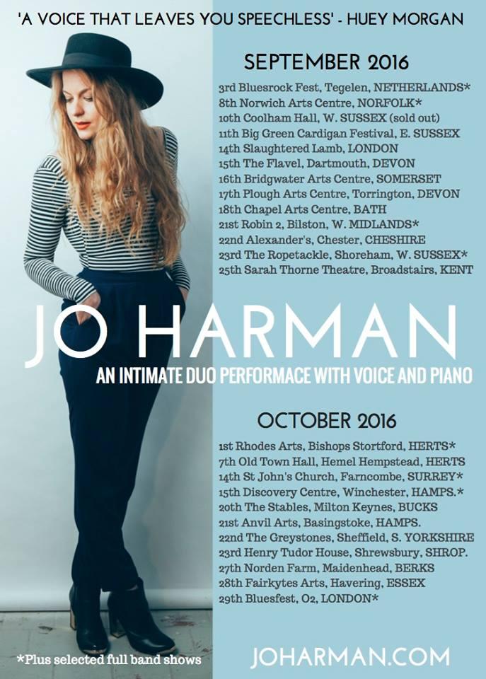 Jo Harman autumn tour