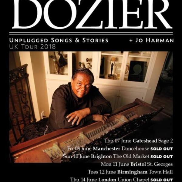 Three upcoming tour dates from Motown singing legend Lamont Dozier are now SOLD OUT…