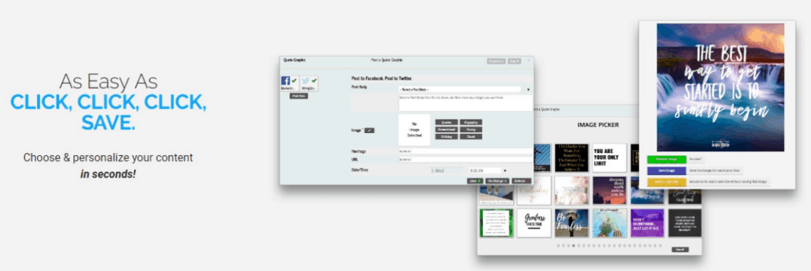 Tassi is a social software that will help you Automate your Social Media in just 1 hour a month.