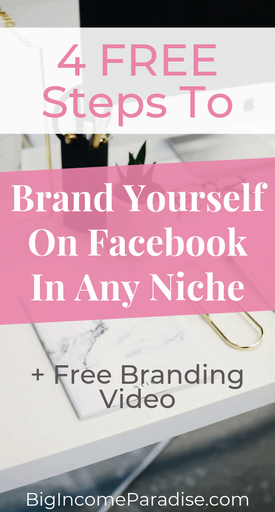 Are you using your Facebook Profile to market your online business? If not, then you should because with your Facebook profile you can reach a lot more people for free. You will get more free traffic and you will brand yourself faster. Here Are 4 FREE Steps To Brand Yourself On Facebook In Any Niche. Check it out and don't forget to Re-Pin it. #BigIncomeParadise #facebookprofile #facebookmarketingstrategy #facebookmarketingstrategies #brandingyourself #brandyourself