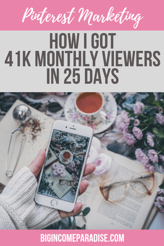 Pinterest Marketing - How I Got 41K Monthly Viewers in 25 Days
