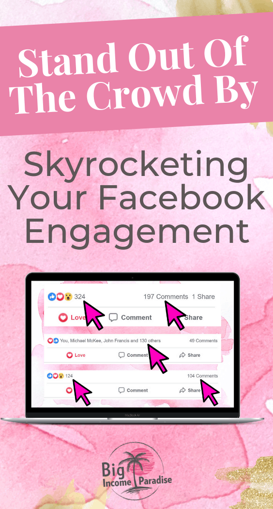 Facebook is a great tool to make money online. So if you want to be a successful entrepreneur, you should get massive facebook engagement because that means you will get more eyes on your business. By skyrocketing your facebook engagement you will get more traffic and leads, then you can turn them into sales. You can profit by getting in front of more people. Check out how you can achieve that and repin this. #bigincomeparadise #facebookmarketing #facebookmarketingstrategy #socialmediamarketing