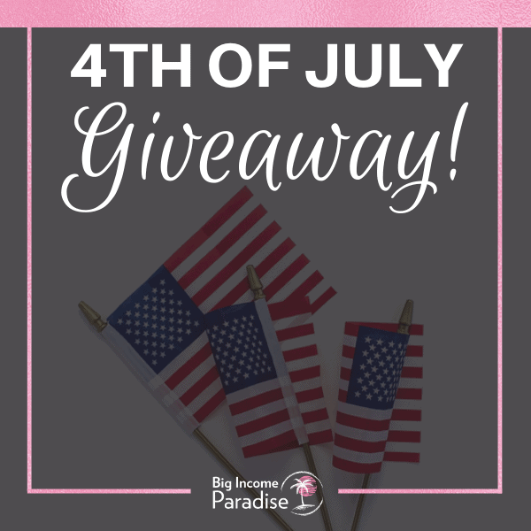 4th of July Giveaway, american flags and 4th of July Captions