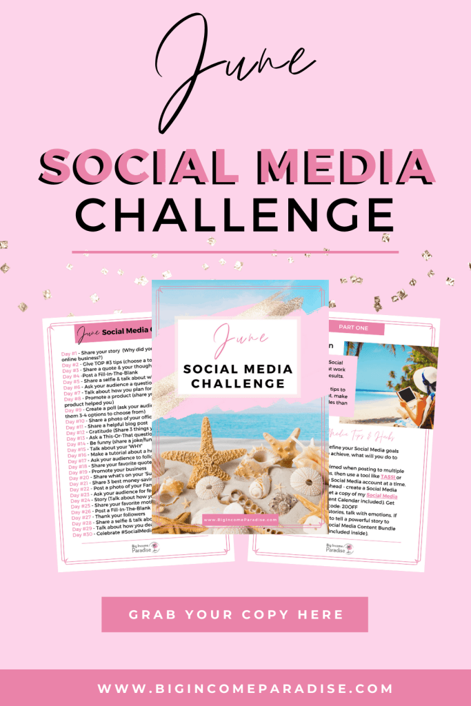 June Social Media Challenge For Business
