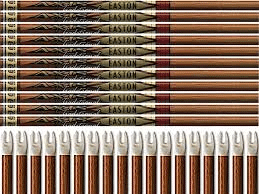 Easton Axis Traditional Arrows with 4 Feathers 6 Pack