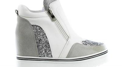 sneakersy białe, szare, czarne