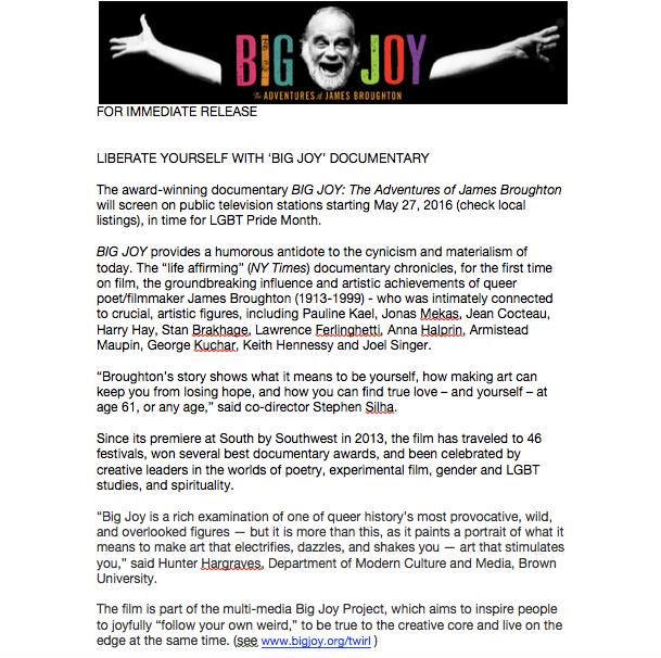 BIG JOY Public TV release 4-16 PM