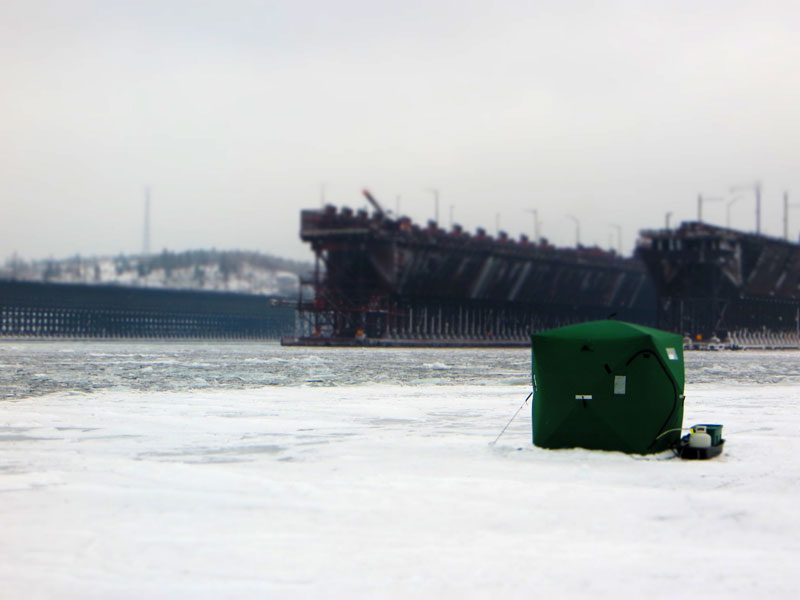 Ice Fishing Two Harbors Minnesota