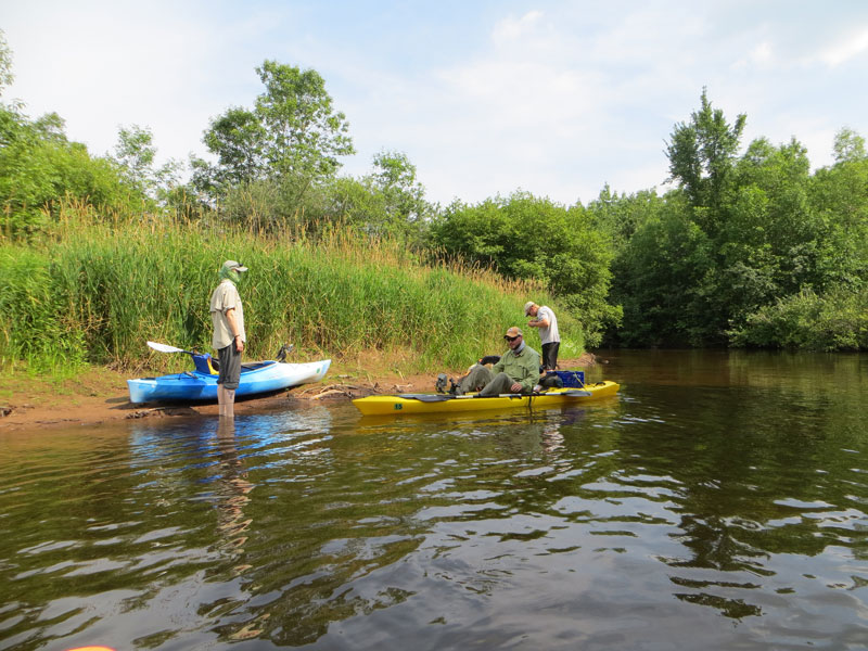 Kayaking the Brule River in Wisconsin