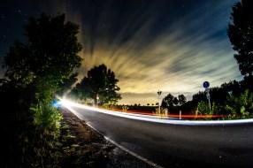 night sky and traffic