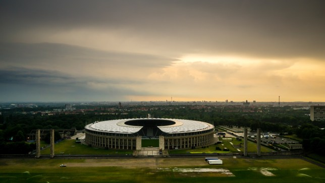 berlin, charlottenburg, olympiastadion, panorama, sturmwolken