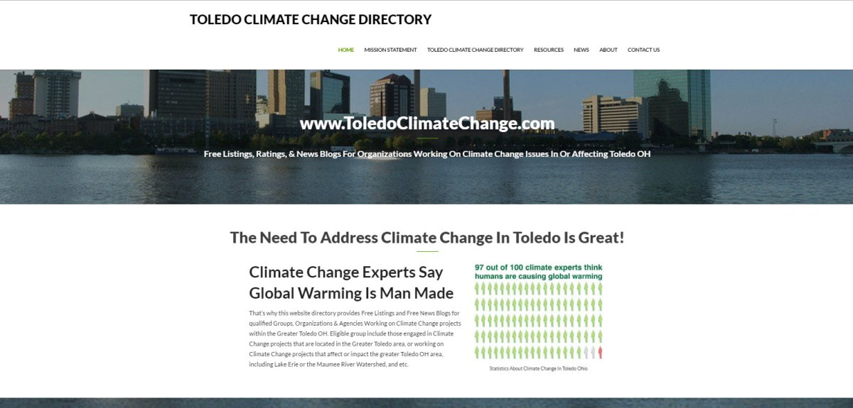 Social Action & Climate Change Directory Website Design Service